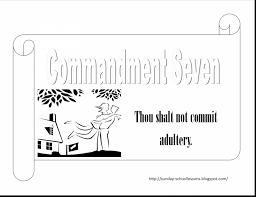 unbelievable commandments coloring page with ten commandments