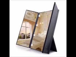 tri fold mirror with lights travel mirror luckyfine tri fold lighted led mirror lighted travel