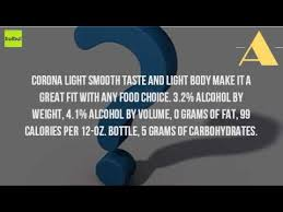 how much alcohol is in corona light how much alcohol is in corona light 12 oz youtube