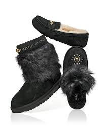 ugg sale orlando lyst ugg ansley shearling slippers in black
