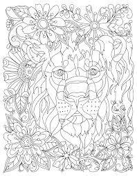 download this beautiful free lion coloring page
