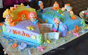 cool bubble guppies birthday cake