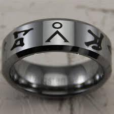 stargate wedding ring 8mm shiny bevel stargate design fashion tungsten wedding ring