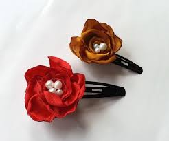 How To Make Flower Hair Clips - diy satin flower hair clips 5 steps with pictures