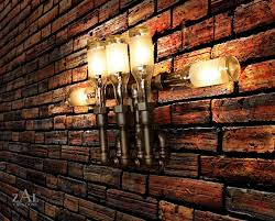 Cabin Light Fixtures by Wall Lamp Beer Bottles Plumbing Pipe U0026 Fittings Wall Light
