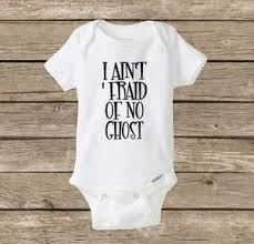 halloween onesie i ain u0027t u0027fraid of no ghost ghostbusters baby
