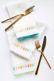 easter napkins diy easter bunny napkins with free printable easter bunny free