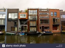 Modern Row Houses - unique architecture in in scheepstimmermanstraat amsterdam row