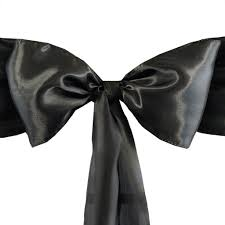 black chair sashes 5 pcs black satin chair sashes tie bows catering wedding party