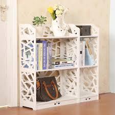 furniture white open bookcase white bookshelf with drawers cheap