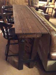 what is a pub table bar table i made for behind couch woodworking by hands pinterest