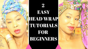 easy head wrap tutorial how to tie a head wrap natural hair