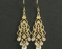 gold chandelier earrings gold chandelier earrings etsy