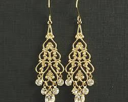gold chandelier earrings gold chandelier earrings etsy