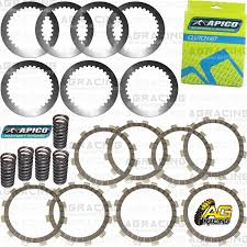 apico clutch kit steel friction plates u0026 springs for yamaha yz 125