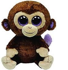 ty beanie boo monkey u0027coconut u0027 ty uk amazon uk toys