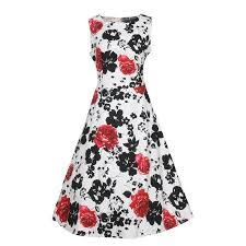 nlife women classy vintage 1950 u0027s floral spring hepburn style
