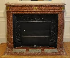 antique louis xvi style fireplace mantel with round corners in