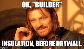 Drywall Meme - one does not simply meme imgflip