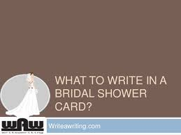 bridal card what to write in a bridal shower card