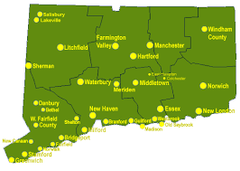 connecticut on map connecticut wildlife removal directory