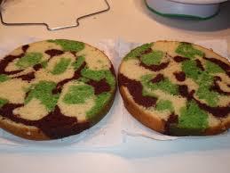 camoflauge cake saving doug s sanity how i made a camouflage cake inside and out