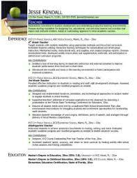 Sample Format Of Resume For Teachers Teachers Resume Sample Resume Samples And Resume Help