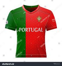 Best National Flags Soccer Shirt Colors Portuguese Flag National Stock Vector