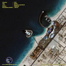 The Burj Al Arab Ikonos Satellite Image Burj Al Arab Hotel Satellite Imaging Corp
