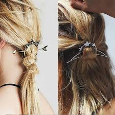 vintage fashion metal tie hair clasp stick styling tools for women
