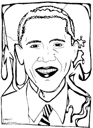 colorir e pintar coloring obama coloring pages barack obama
