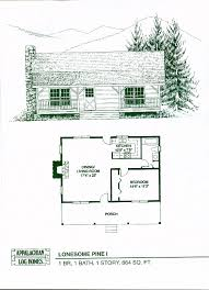 2 cabin plans lonesome pine i 1 bed 1 bath 1 864 sq ft appalachian