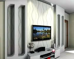 hidden living room with flat screen lcd tv ideas amazing living