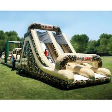 the 85 foot inflatable military obstacle course hammacher schlemmer