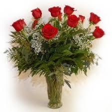 Long Stem Rose Vase Oakmont Floral Long Stem Red Rose Bouquet In A Vase
