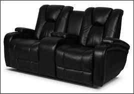 Black Reclining Sofa Bonded Leather Power Reclining Sofa Black