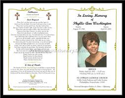 Pictures For Funeral Programs Free Template For Funeral Program Best Template U0026 Design Images