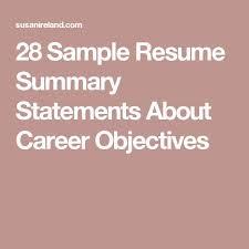 Career Objective For Resume For Experienced Pinterest U0027teki 25 U0027den Fazla En Iyi Career Objectives Samples Fikri