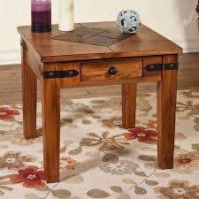 Oak End Tables Shop Designs Sedona Rustic Oak End Table At Lowes