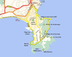 map of antibes the cap d antibes an exceptional site between antibes and juan