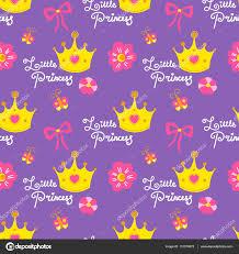 little princess pattern vector sweet background for children