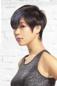 side and back views of shag hairstyle classic short hairstyle with pointed sideburns short hair