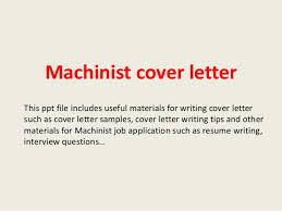 best ideas of machinist resume cover letter sample for format