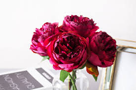 peony flowers 1pc fuchsia peony peonies a grade silk flower byanca floral