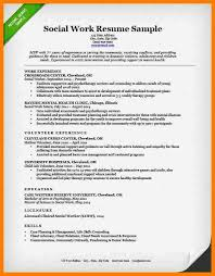Social Work Resume Samples by 6 Social Work Resume Examples Science Resume