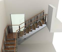 Height Of Handrails On Stairs by Wooden Handrail Staircase Ideas With Painted Rails Decorative