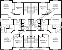 three plex floor plans 4 plex plan 2011599 edesignsplans ca