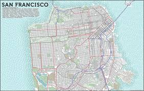 san francisco on map francisco typographic map