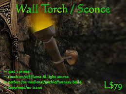 Torch Wall Sconce Second Marketplace Wall Torch Sconce