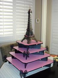 did someone say eiffel tower themed cupcake stand ok this would